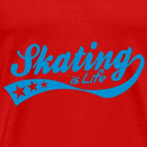 skating is life - retro Tops - Men's Premium T-Shirt