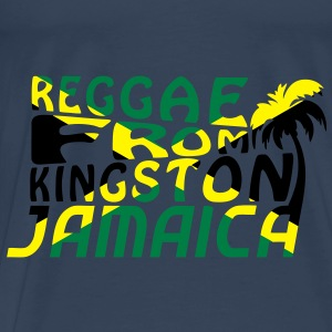 reggae from kingston jamaica Toppar - Premium-T-shirt herr