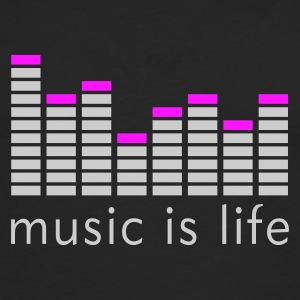Music is life Equalizer / Music is life equaliser Toppe - Herre premium T-shirt med lange ærmer