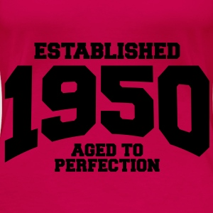 aged to perfection established 1950 (no) Topper - Premium T-skjorte for kvinner
