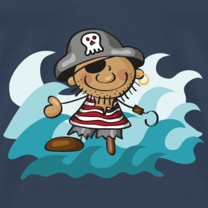 The Little Pirate and the Sea Tops - Men's Premium T-Shirt