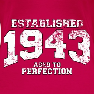 established 1943 - aged to perfection (uk) Tops - Women's Premium T-Shirt