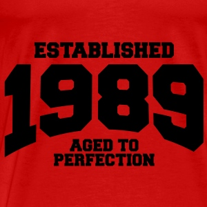 aged to perfection established 1989 (sv) Toppar - Premium-T-shirt herr
