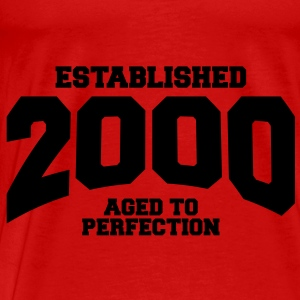 aged to perfection established 2000 (sv) Toppar - Premium-T-shirt herr