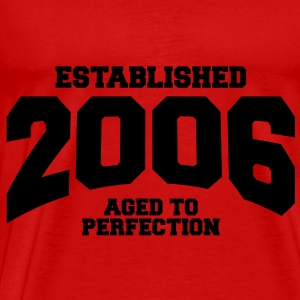 aged to perfection established 2006 (no) Topper - Premium T-skjorte for menn
