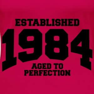 aged to perfection established 1984 (sv) Toppar - Premium-T-shirt dam