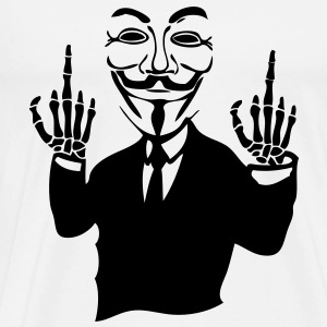 anonymous masque mask fuck7 main hand sq Tee shirts - T-shirt Premium Homme