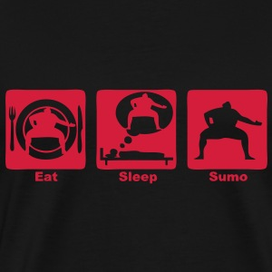 sumo eat sleep play  Tee shirts - T-shirt Premium Homme
