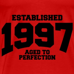 aged to perfection established 1997 (no) Topper - Premium T-skjorte for menn