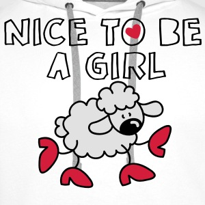 Nice to be a girl Tops - Männer Premium Hoodie
