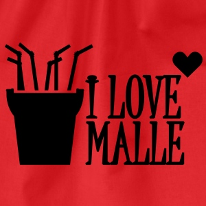 I love Malle (1c) Tops - Drawstring Bag