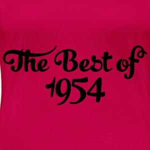 Geburtstag - Birthday - the best of 1954 (sv) Toppar - Premium-T-shirt dam
