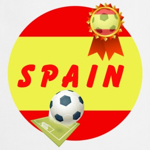 Spain Football Team Supporter Rosette Ball & Pitch - Cooking Apron