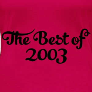 Geburtstag - Birthday - the best of 2003 (nl) Tops - Vrouwen Premium T-shirt