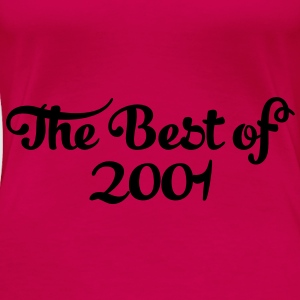 Geburtstag - Birthday - the best of 2001 (dk) Toppe - Dame premium T-shirt