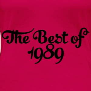 Geburtstag - Birthday - the best of 1989 (sv) Toppar - Premium-T-shirt dam