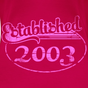 established_2003_dd (uk) Tops - Women's Premium T-Shirt