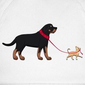 Rottweiler & Chihuahua 2 Top - Cappello con visiera