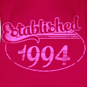 established 1994 dd (es) Tops - Camiseta premium mujer