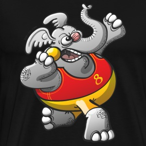 Olympic Shot Put Elephant T-Shirts - Men's Premium T-Shirt