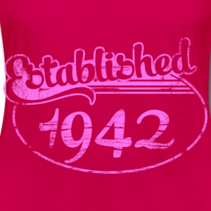 established 1942 dd (es) Tops - Camiseta de manga larga premium mujer