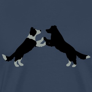 dog dancing Border Collies  Tops - Men's Premium T-Shirt