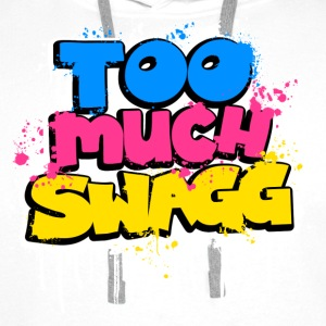 TOO MUCH SWAGG graffiti Tee shirts - Sweat-shirt à capuche Premium pour hommes