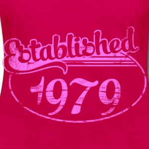 established 1979 dd (es) Tops - Camiseta de manga larga premium mujer