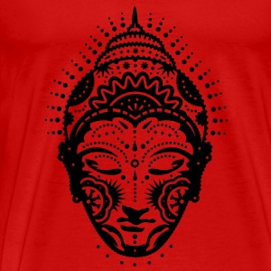 Buddha head decorated with ornaments Tops - Men's Premium T-Shirt