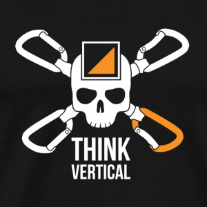 Skull Think Vertical Orange T-shirt - Maglietta Premium da uomo