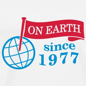 flag on earth since 1977  2c (dk) Toppe - Herre premium T-shirt