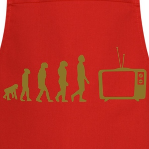 Evolution TV, TV, sofa, couch, flat screen TV, tube T-Shirts - Cooking Apron