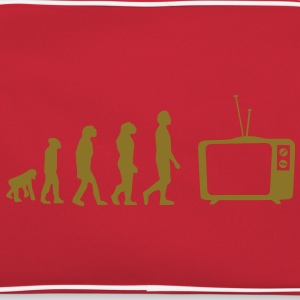 Evolution tv, sofa, sofa, fladskærms-tv, rør T-shirts - Retro taske