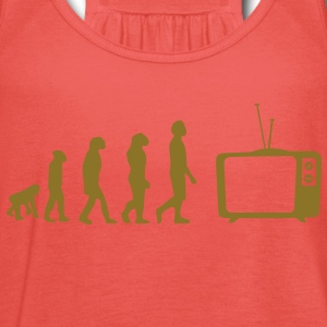 Evolution TV, TV, sofa, couch, flat screen TV, tube T-Shirts - Women's Tank Top by Bella