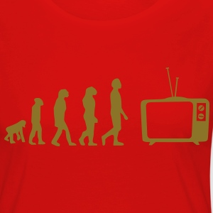 Evolution TV, TV, bank, bank, flat screen TV, buis T-shirts - Vrouwen Premium shirt met lange mouwen