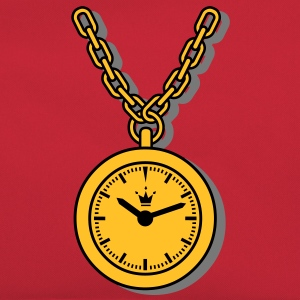 clock, chain T-shirts - Retro-tas