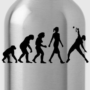 evolution_badminton_spielerin_b_1c T-Shirts - Trinkflasche