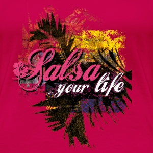 salsa your live | tanzshirts  Tops - Premium T-skjorte for kvinner