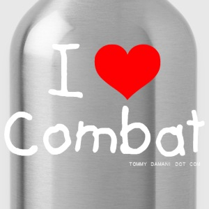 I Love Combat - White Font Tops - Water Bottle
