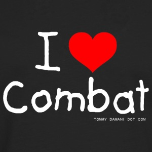 I Love Combat - White Font Tops - Men's Premium Longsleeve Shirt