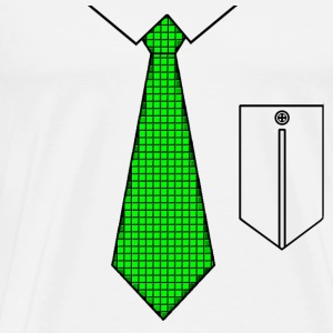 Green tie with pocket Tops - Mannen Premium T-shirt