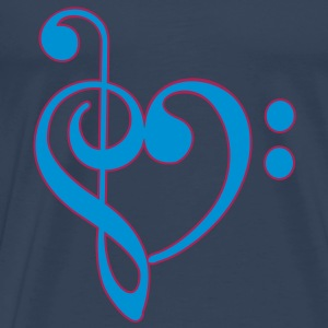 Love clef Tops - Men's Premium T-Shirt