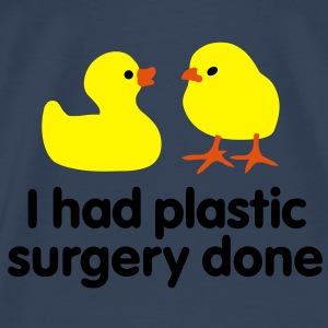I had plastic surgery done Tops - Mannen Premium T-shirt
