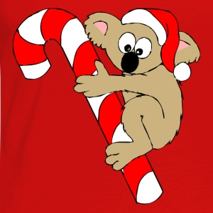 Bear On a Christmas Suger Candy Cane Tops - Women's Premium Longsleeve Shirt