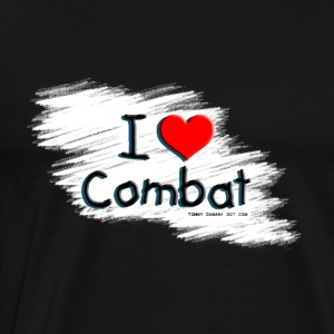 I Love Combat SprayCan Tops - Men's Premium T-Shirt