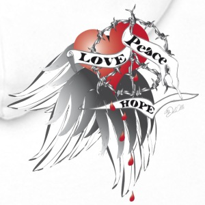 Love, Peace and Hope  T-shirts - Premiumluvtröja herr