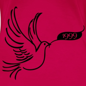 Peace dove with year 1999 Tops - Women's Premium T-Shirt