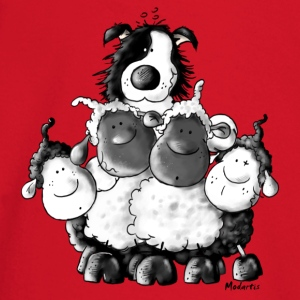 Border Collie and sheep - dog - t-shirt design T-Shirts - Baby Long Sleeve T-Shirt