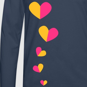5 half hearts in a line down funky! Tops - Men's Premium Longsleeve Shirt