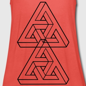 Optical illusion T-Shirts - Women's Tank Top by Bella